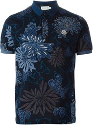 футболка-поло с цветочным принтом Moncler