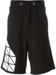 шорты с геометрическим принтом Giuliano Fujiwara