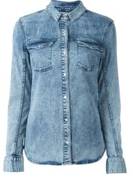 джинсовая рубашка на кнопках Calvin Klein Jeans
