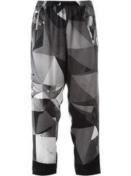 укороченные брюки с геометрическим принтом Ilaria Nistri