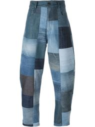 джинсы лоскутного кроя Giuliano Fujiwara