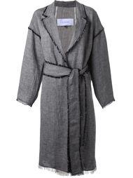 пальто с поясом Le Ciel Bleu