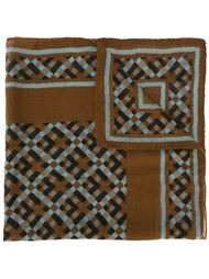 платок с абстрактным принтом Yves Saint Laurent Vintage