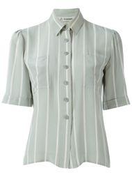 рубашка в полоску с короткими рукавами Jean Louis Scherrer Vintage