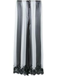 полосатые брюки с кружевной отделкой Rosamosario
