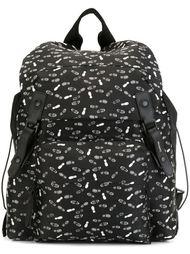 рюкзак с принтом следов Lanvin