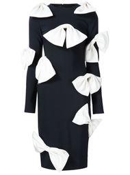 облегающее платье с бантами Christian Siriano