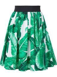 пышная юбка с растительным принтом Dolce & Gabbana