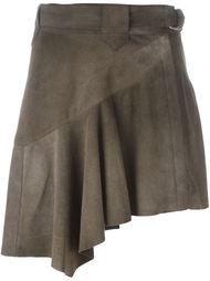 асимметричная короткая юбка с рюшами Roberto Cavalli