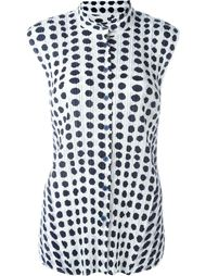 ribbed effect dots print shirt Pleats Please By Issey Miyake
