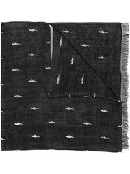 шарф с принтом вспышек молнии Neil Barrett