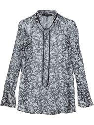 блузка с мраморным узором Derek Lam