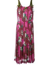 плиссированное платье с цветочным принтом Muveil