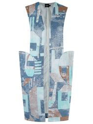 abstract print vest Fernanda Yamamoto