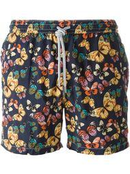 шорты для плавания с принтом бабочек Capricode