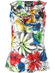 топ с цветочным принтом Boutique Moschino