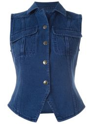 джинсовая жилетка Romeo Gigli Vintage
