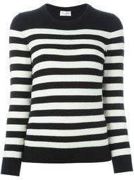 свитер бойфренда в полоску Saint Laurent