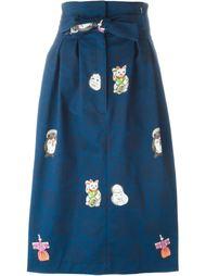 юбка с японскими мотивами Olympia Le-Tan