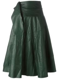 кожаная юбка миди Ma+