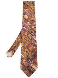 галстук с абстрактным принтом Yohji Yamamoto Vintage