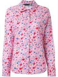 рубашка с цветочным принтом  Love Moschino