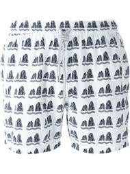плавательные шорты с абстрактным принтом Capricode
