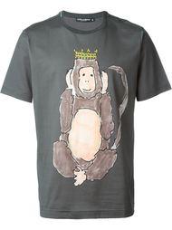 футболка с принтом обезьяны Dolce & Gabbana