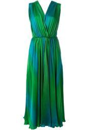 платье с драпировкой и V-образным вырезом Jean Louis Scherrer Vintage
