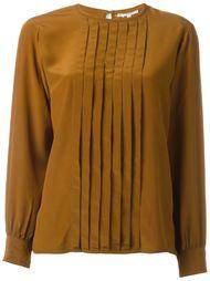 блузка с плиссированной деталью на груди Yves Saint Laurent Vintage