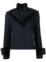 приталенный пиджак с меховой отделкой Derek Lam
