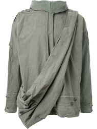 куртка с драпированными деталями  Greg Lauren