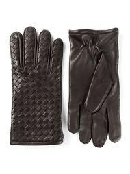 плетеные перчатки Bottega Veneta
