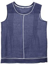 блузка с кружевными вставками Vince