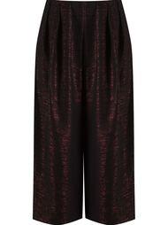 metallic cropped trousers Fernanda Yamamoto