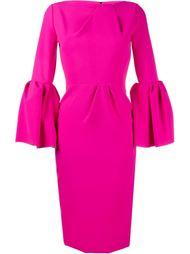 платье с рукавами-колокол Roksanda