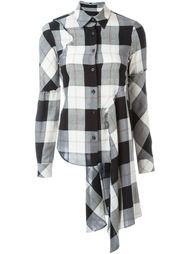 рубашка в шотландскую клетку Mm6 Maison Margiela