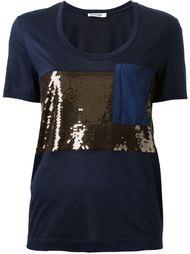 футболка с пайетками Jil Sander