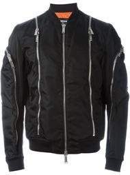 куртка-бомбер с декоративными молниями Dsquared2