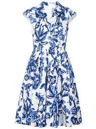 расклешенное платье с цветочным принтом Lela Rose