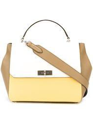 сумка на плечо в стиле колор-блок  Bally