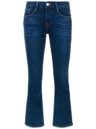 укороченные джинсы с клешем ниже колена  Frame Denim
