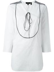 рубашка с вышивкой на плечах Theory