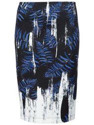 юбка с абстрактным принтом Yigal Azrouel