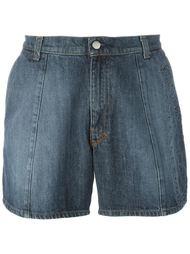 джинсовые шорты с тисненым узором Walter Van Beirendonck Vintage