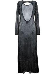 длинное ажурное платье Hervé Léger
