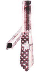 полосатый галстук с принтом звезд Givenchy