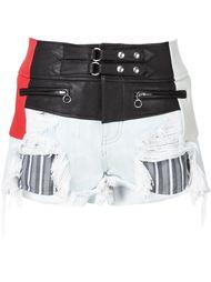 джинсовые шорты в байкерском стиле Alexander Wang