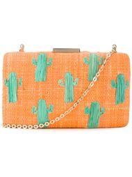плетеный клатч с принтом кактусов Kayu