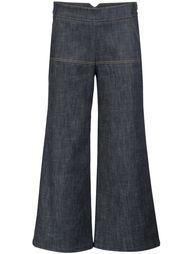 укороченные брюки с клешем ниже колена Derek Lam